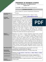 Marketing Course Outline Summer 2013