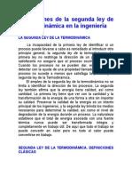 Control de Lectura 6 Aplicaciones de La Segunda Ley de La Termodinámica en La Ingeniería