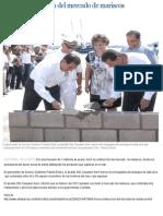 26-08-2014 Gobernador Guillermo Padrés Elías da inicio a construcción de mercado.
