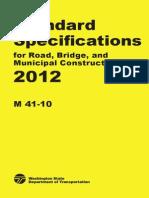 Especificaciones Washington - 2012