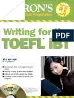Writing for TOEFL Ibt