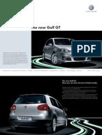 Volkswagen Golf GT September 2006 Brochure