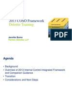 Deloitte - COSO III 2013 - Lunch Presentation