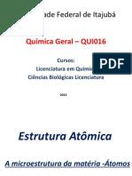 Estrutura atômica - 2014