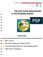 Incorporating Lifecycle Approaches in the Building Sector