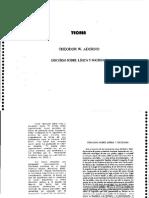 Adorno - Discurso Sobre Lírica y Sociedad