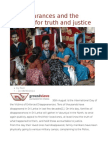 Disappearances and the Struggle for Truth and Justice