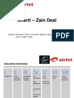 Bharti-Zain Deal PPT