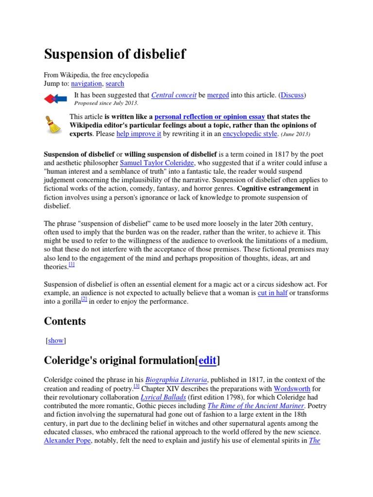 Suspension of Disbelief   PDF