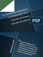 Los Sentimientos Pedagógicos en El Desempeño de Los Docentes del Sistema Educativo Ecuatoriano