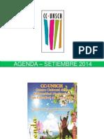 - Agenda – Setiembre 2014