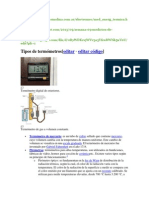 Clasificación de Termómetros