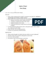 algebra 2 project - design a poster