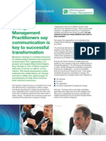 Change Management Practitioners International Article