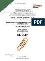 Anàlisis de Objeto Tècnico El Clip