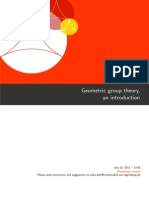 Geometric Group Theory, And Introduction
