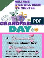 Worship Countdown 5 Grandparents Sunday