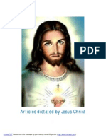 Articles Dictated by Jesus Christ