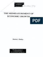 Bailey - The Mismeasurement of Economic Growth, 1991