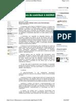 Bezerra Propoe Debate Sobre Autohemoterapia 29-03-2007