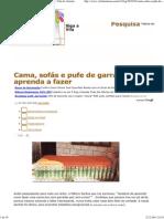 Cama, Sofás e Pufe de Garrafa Pet - Aprenda a Fazer _ Vila Do Artesão