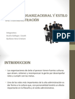 Cultura Organizacional y Estilo de Administración