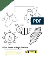 Activity Sheets- yellow