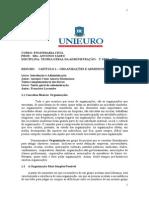 Apostila-resumos -Teoria Geral Adm-curso - Eng. Civil-2º Sem 2014-Unieuro