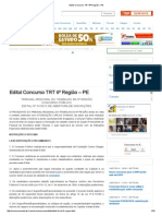 Edital Concurso TRT 6ª Região – PE