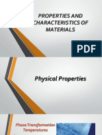 Properties and Characteristics of Engineering Materials