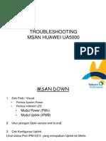 Troubleshooting MSAN Huawei UA5000