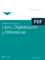 Revista Int. Del Libro y Bibliotecas, Vol. 1, Num. 2, 2013