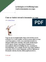 Yoga Si Insomnia