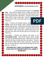 first day of school procedures goodfellow 2014 15