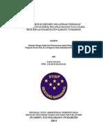 Pengaruh Komitmen Organisasi Terhadap Produktivitas Kerja Pegawai