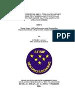 Pengaruh Motivasi Kerja Terhadap Komitmen Organisasi Pegawai Bappeda