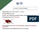 Alba English Level Test