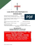 Lucky Strike Pricing