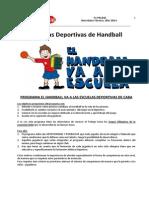 Proyecto Gobierno de La Ciudad. Escuelas Deportivas