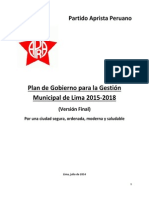 PLANDEGOBIERNOMunicipalLima2014