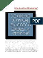 Traitor Within Aldrich Ames