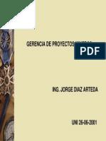 Gerencia de Proyectos Mineros-UNI-Diaz Arteda