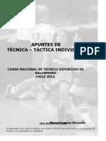 MANOLO LAGUNA. Tecnica Tactica Individual