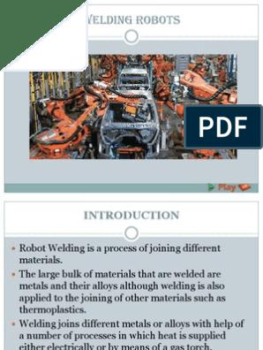 Welding Robots PPT | Welding | Robot
