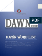 Dawn Word List.