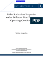 Pellet Reduction Properties Under Different BF Operating Conditions