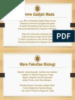 Hymne Gadjah Mada Dan Mars Biologi