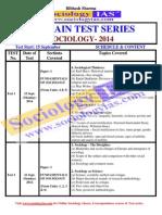 All India Sociology Mains Test Series 2014 - 10 Mock Tests - Visit