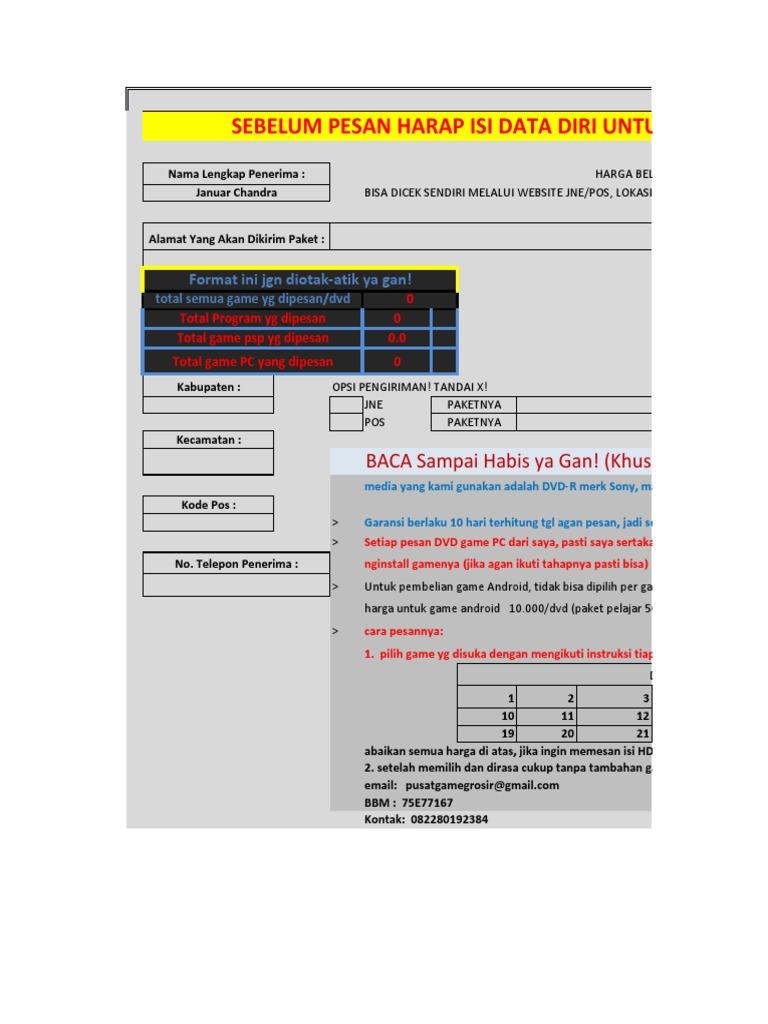 Pusatgame Grosir 3 Juni 2014