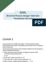 Pendekatan Binomial Poisson Dan Normal